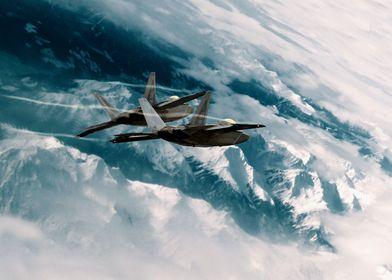 USAF F-22 Raptors of the 3rd Wing at Elmendorf-Richards ...
