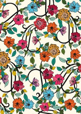 A vintage flower pattern :)