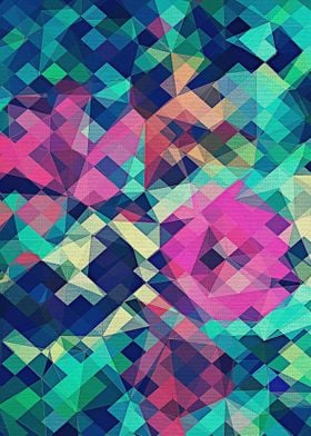 Fruity Rose Fancy Colorful Abstraction Pattern Design G ...