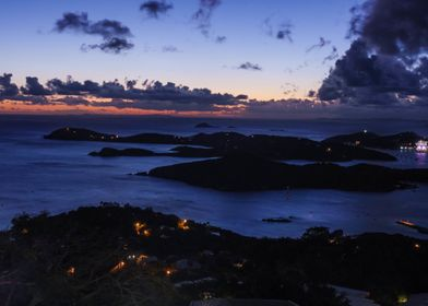 Image of St. Thomas in the U.S. Virgin Islands. Summit  ...
