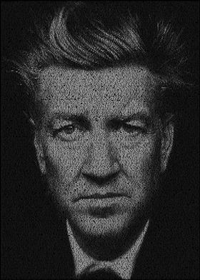 Lynch. A typographic portrait of director David Lynch c ...