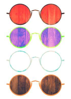 Simple Older Styled glasses artwork. simple and beautif ...