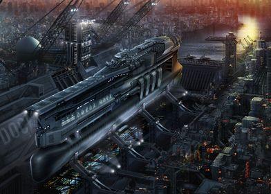 The capital space ship 'Omega Nova' from the company 'H ...