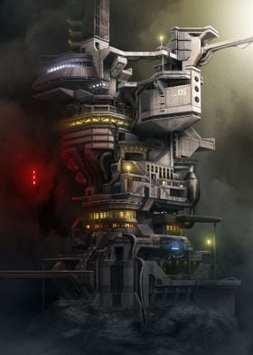 'Megastructure' - A long forgotten outpost on a isolate ...