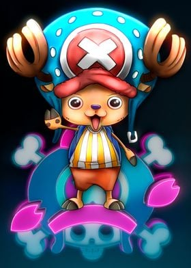 Tony Tony Chopper (corel painter,post-production, edit ...