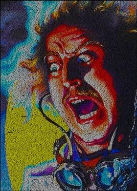 Dr. Frankenstein. A typographic portrait of Gene Wilde ...