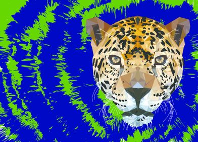 Took an image of a leopard and illustrated it using onl ...