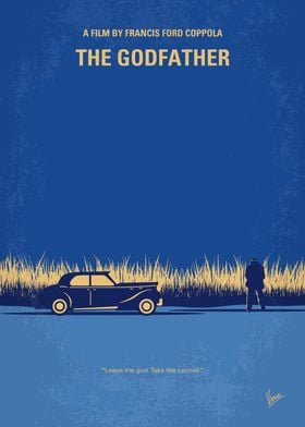 No686-1 My Godfather I minimal movie poster The aging ...