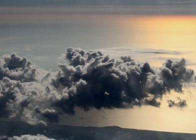 cloud above ocean