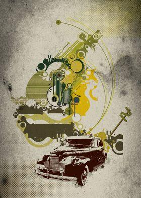 Vintage Car Composition