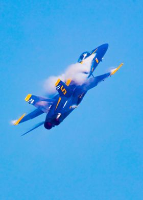 A Blue Angel F-18 During A Fast Turn