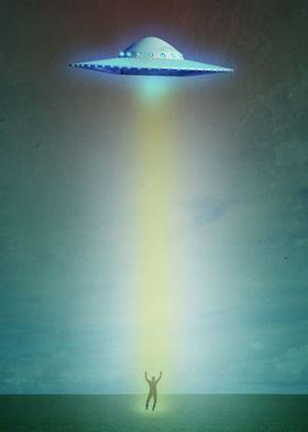 Alien Abduction by Edward M. Fielding features an alien ...