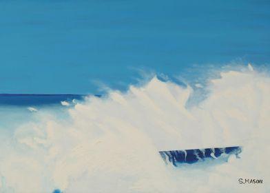 Crash.A waves last breath,
