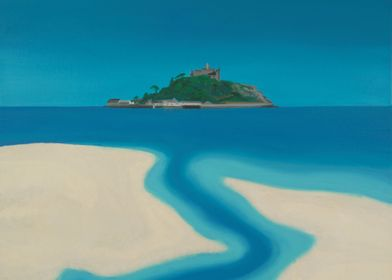 The Stream.A view of St Michaels Mount,Marizion