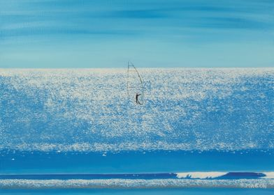 surfing on diamonds.A days surfing on shimmering blue s ...