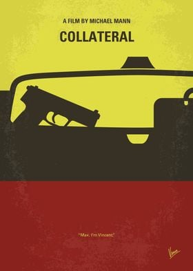 No691 My Collateral minimal movie poster A cab driver ...