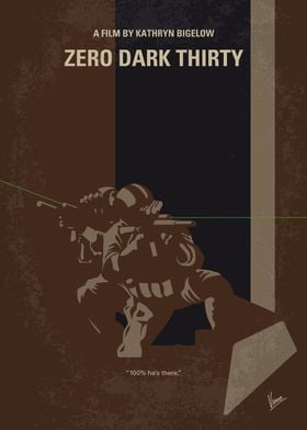 No692 My Zero Dark Thirty minimal movie poster A chron ...