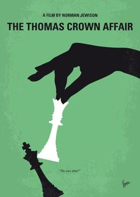 No689 My The Thomas Crown Affair minimal movie poster  ...