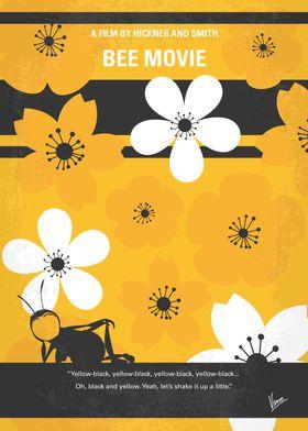 No687 My Bee Movie minimal movie poster Barry B. Benso ...