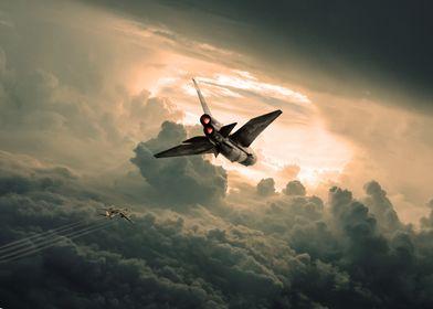 Lightning Jet intercepting a Russian Bear