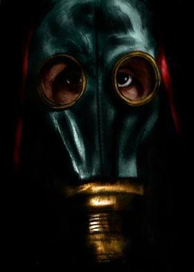 Hand Drawn gas mask design