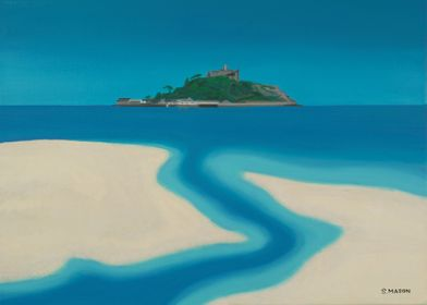 The Stream.A view of St Michaels Mount,Marizion from th ...