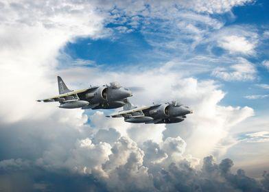 RAF Harrier Jump Jets