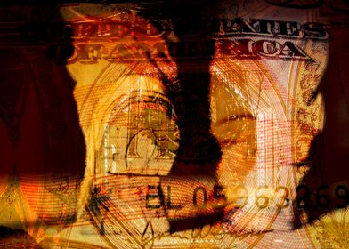 Image shows walking away with money overlaid.