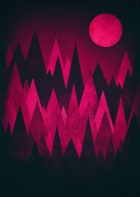 Dark  Awesome black & white grunge triangle / peak woo ...
