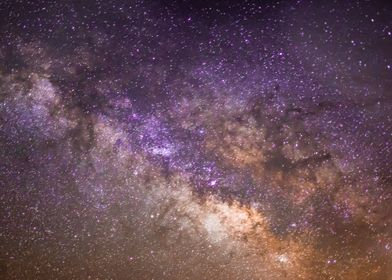 A beautiful photograph of our Milky Way Galaxy at night ...