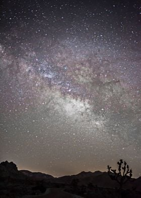 A nighttime photograph of the Milky Way Galaxy, shot fr ...