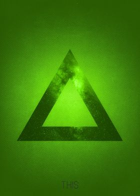 The triangle is part of a collection of 4 illustration  ...