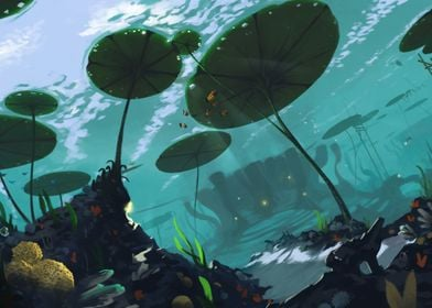 A view of the underwater scenery of Ga-Koro