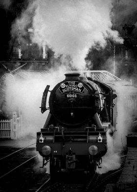 The Flying Scotsman leaving Grosmont station