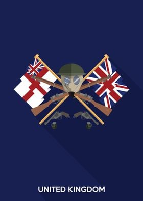 Simple Flat Design Inspired by the United Kingdom Durin ...