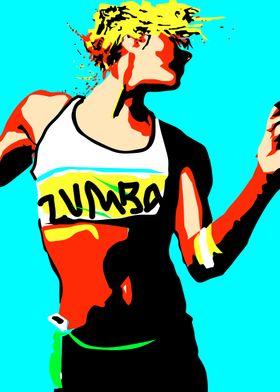 Zumba dancer