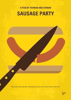 No704 My Sausage Party minimal movie poster A sausage ...