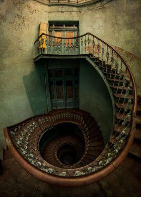 Forgotten spiral staircase