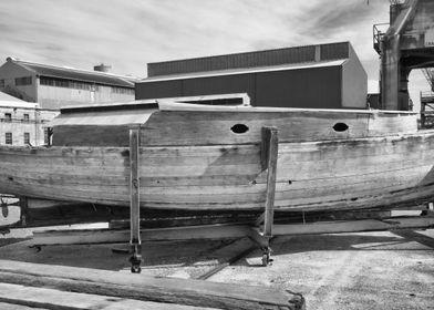 Wooden ship at an old ship yard