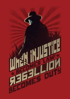 V for vendetta design with russian constructivism style ...