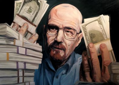 Oil painting of Heisenberg from the popular TV show Bre ...