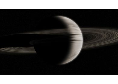 ringed planet created from scratch, using various tools ...