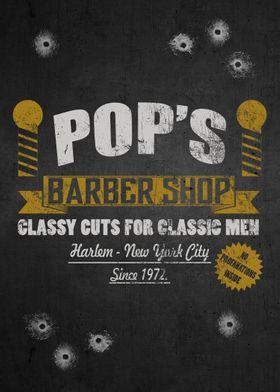 Pops barber shop. Classy cuts for classyc men. Forward, ...