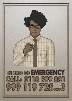 in case of emergency call 0118 999 881 999 119 725 3