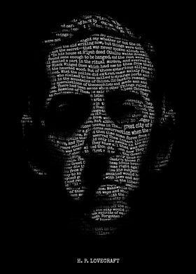H. P. Lovecraft - Necronomicon. A portrait of H. P. Lov ...