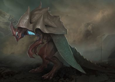 Bipedal Eschaton Beast.  Concept art for the upcoming E ...