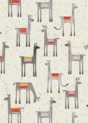 Llamas in the Meadow