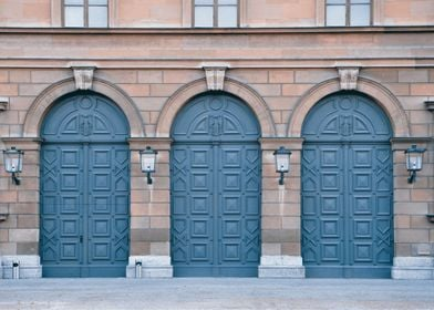 Doors on the wall. Munich. Germany.