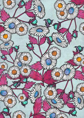 A pretty floral pattern design