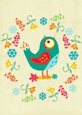 A lovely and colorful bird design :)